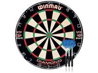 Winmau Diamond Plus Dartboard and Deluxe Darts