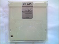 TDK MO-230 230Mb Magneto Optical MO Disks with Jewel Case - USED