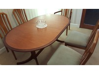 Immaculate 6 dining chairs and table.