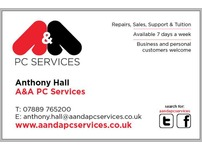 Computer & Laptop repairs, sales, support and tuition in West Yorkshire