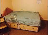 Double bed with draws
