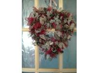 A beautiful heart shaped handmade decorative wreath