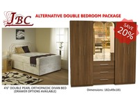 COMPLETE DOUBLE BEDROOM ALTERNATIVE FURNITURE PACKAGE - SPECIAL OFFER