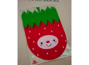 STRAWBERRY FACE Cookie Biscuit bags packaging plastic party sweets wrap
