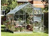 Greenhouse Glass Juliana Junior 2.77x4.41x2.57 m, Aluminium