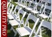 Padded Folding Chairs white 44x46x77 cm, 24 pcs.