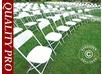 Folding Chair White 44x44x80 cm, 24 pcs