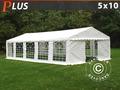 Marquee PLUS 5x10 m PE, White