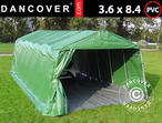 Portable Garage PRO 3.6x8.4x2.68 m PVC, with ground cover, Green/Grey