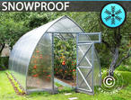 Greenhouse Polycarbonate, Arrow 15,6 m, 2,6x6 m, Silver