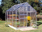 Greenhouse Polycarbonate Halls Popular 5m, 1.93x2.57x1.95 m, Aluminium