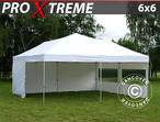 Pop up gazebo FleXtents Xtreme 6x6 m White, incl. 8 sidewalls