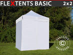 Pop up gazebo FleXtents Basic, 2x2 m White, incl. 4 sidewalls