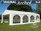 "Marquee Original 4x8 m PVC, ""Arched"", White"