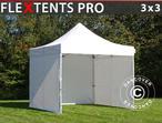 Pop up gazebo FleXtents PRO 3x3 m White, incl. 4 sidewalls