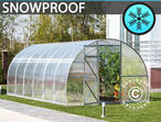 Greenhouse Polycarbonate, Strong 18 m, 3x6 m, Silver