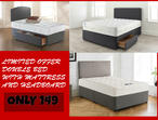 LIMITED OFFER | DOUBLE/SINGLE DIVAN BED WITH BASE + MATTRESS + HEADBOARD