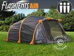 Camping FlashTents® Air, 3 persons, Orange/Dark Grey