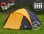 Camping tent, TentZing Igloo, 4 persons, Orange/Dark Grey