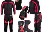 (Red) Cobaru Sang Suit - Jacket + Trouser + Gloves + Boots (Long)