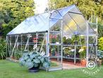 Greenhouse Polycarbonate Balance 8.9m, 2.44x3.67x2.29 m Silver