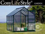 Greenhouse Polycarbonate 4.78m, 1.9x2.52x2.01 m, Green