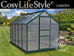 Greenhouse Polycarbonate 5.92m, 1.9x3.12x2.01 m, Green