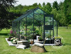 Greenhouse Glass Juliana Junior 12.1m², 2.77x4.41x2.57 m, Anthracite