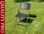 Folding Chair Rattan-look 48x57x83cm, Black, 4 pcs.