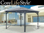 Gazebo Santa Monica, 3.6x3.6 m, Dark Grey