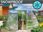 Greenhouse Polycarbonate, Arrow 18 m, 3x6 m, m, Silver