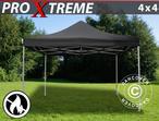 Pop up gazebo FleXtents Xtreme 4x4 m Black, Flame retardant