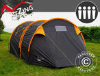 Camping tent, TentZing Tunnel, 4 persons, Orange/Dark Grey