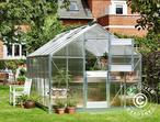 Greenhouse Polycarbonate Juliana Junior 12.1m, 2.77x4.41x2.57 m, Aluminium