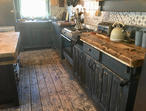 Freestanding Sheffield steel & solid timber kitchen run