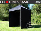 Pop up gazebo FleXtents Basic, 2x2 m Black, incl. 4 sidewalls