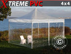 Pop up gazebo FleXtents Xtreme 4x4 m Clear, incl. 4 sidewalls