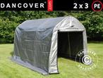 Storage tent PRO 2x3x2 m PE, Grå