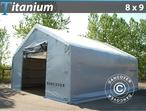 Storage shelter Titanium 8x9x3x5 m, White / Grey
