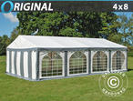 Marquee Original 4x8 m PVC, Grey/White