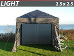 Pop up gazebo FleXtents Light 2.5x2.5 m Grey, incl. 4 sidewalls