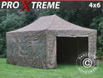 Pop up gazebo FleXtents Xtreme 4x6 m Camouflage/Military, incl. 8 sidewalls