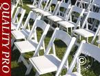 Padded Folding Chairs white 44x46x77 cm, 24 pcs.