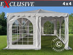 Pagoda Marquee Exclusive 4x4 m PVC, White