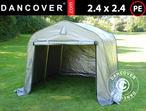 Storage tent PRO 2.4x2.4x2 m PE, Grey