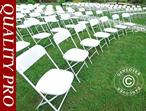 Folding Chair White 44x44x80 cm, 24 pcs