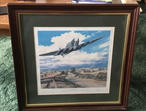 Good Morning  Spitfire print Limited Edition 125/1000 signed by Johnnie Johnson.