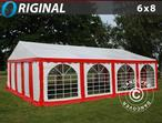 Marquee Original 6x8 m PVC, Red/White