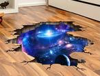 Space Planets 3D Wall Stickers Floor Decoration Vinyl