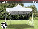 Pop up gazebo FleXtents PRO 4x4 m White, Flame retardant